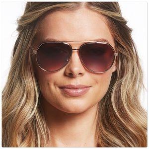 Jessica Simpson Gold Aviator Sunglasses